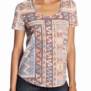Lucky Brand Scoop Neck Knit Top SZ Large NWT